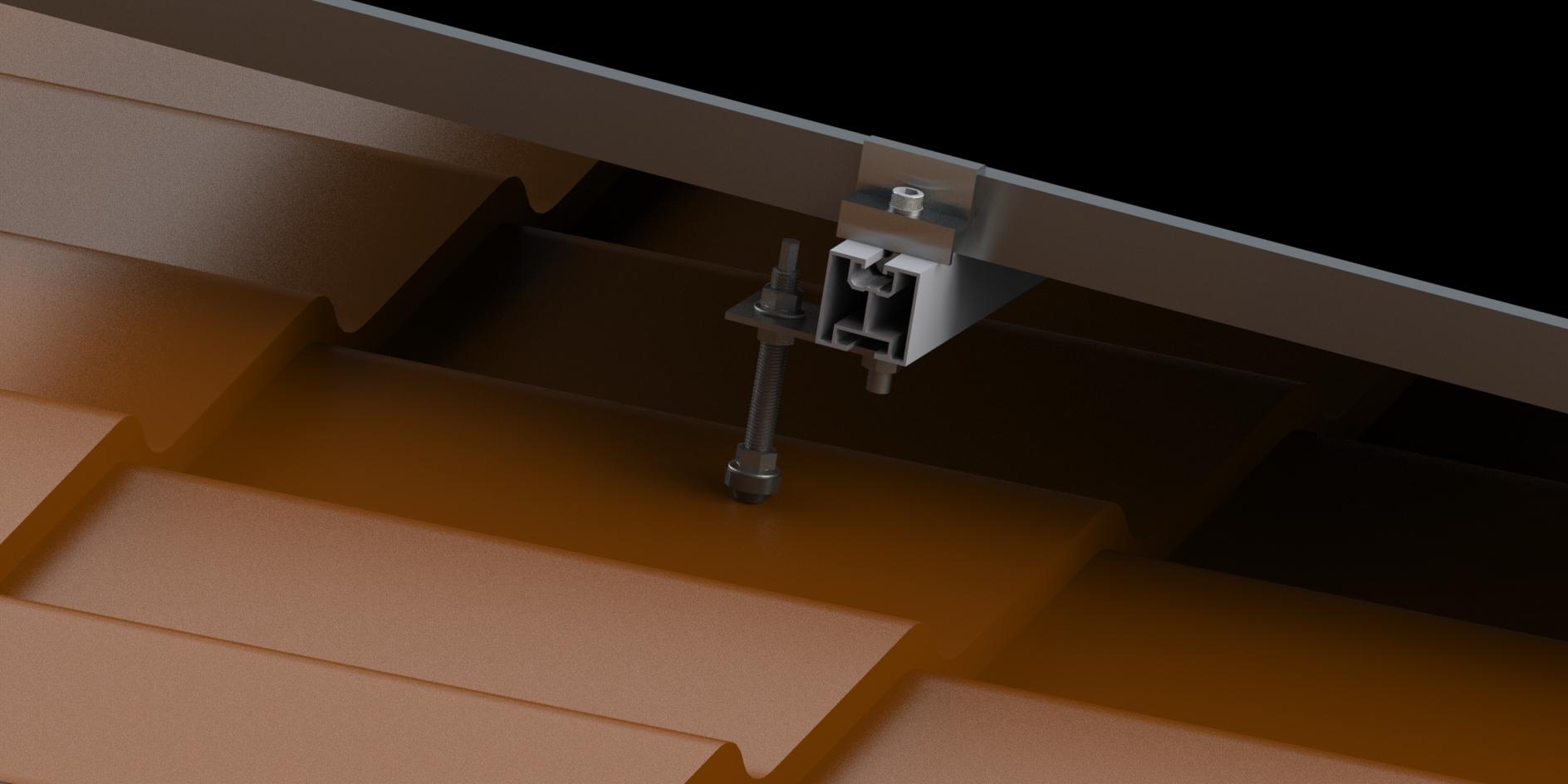 Uchwyt do blachodachówki konstrukcje fotowoltaiczne
