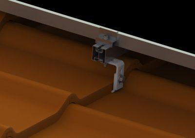 Mocowanie konstrukcji na blachodachówce ceramicznej i betonowej