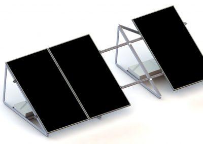 Dach płaski ekierki balast konstrukcja fotowoltaiczna