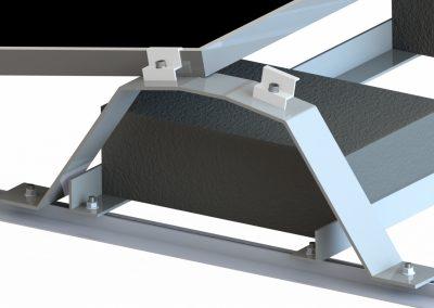 Dach płaski wschód-zachód balast konstrukcja fotowoltaiczna