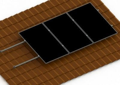Konstrukcje fotowoltaiczne do blachodachówki na dach skośny