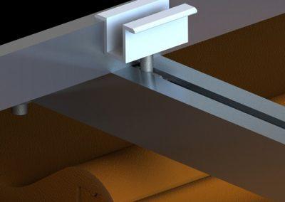 Schemat mocowania blachodachówki ceramicznej i betonowej konstrukcji fotowoltaicznej