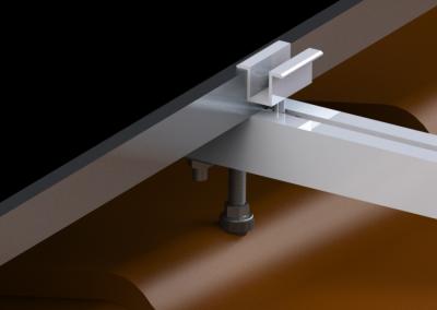 Mocowanie konstrukcji fotowoltaicznej na blachodachówce