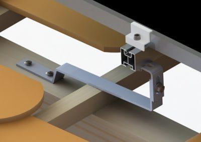 Szkic konstrukcji fotowoltaicznej Karpiówki