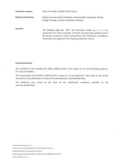Certyfikat FPC strona 2 EN