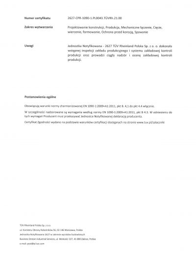 Certyfikat FPC strona 2