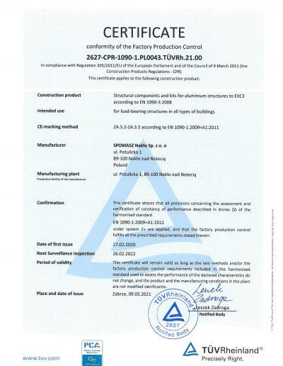 Certyfikat FPC strona 1 EN