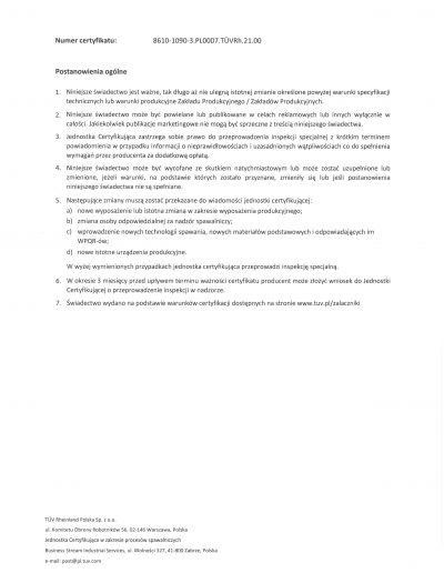 Certyfikat Welding strona 2